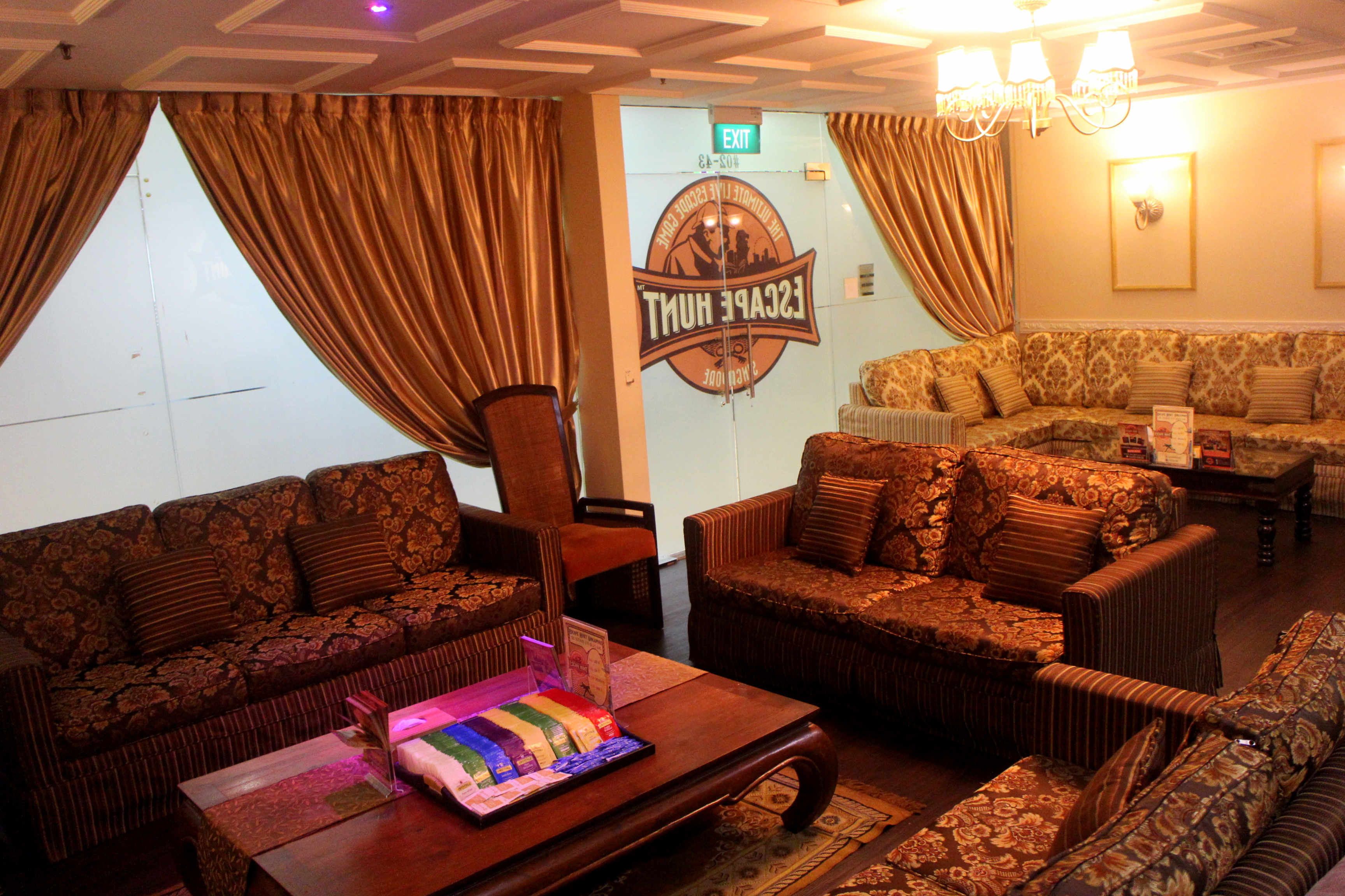 Escape Hunt Singapore Luxurious Lounge Area